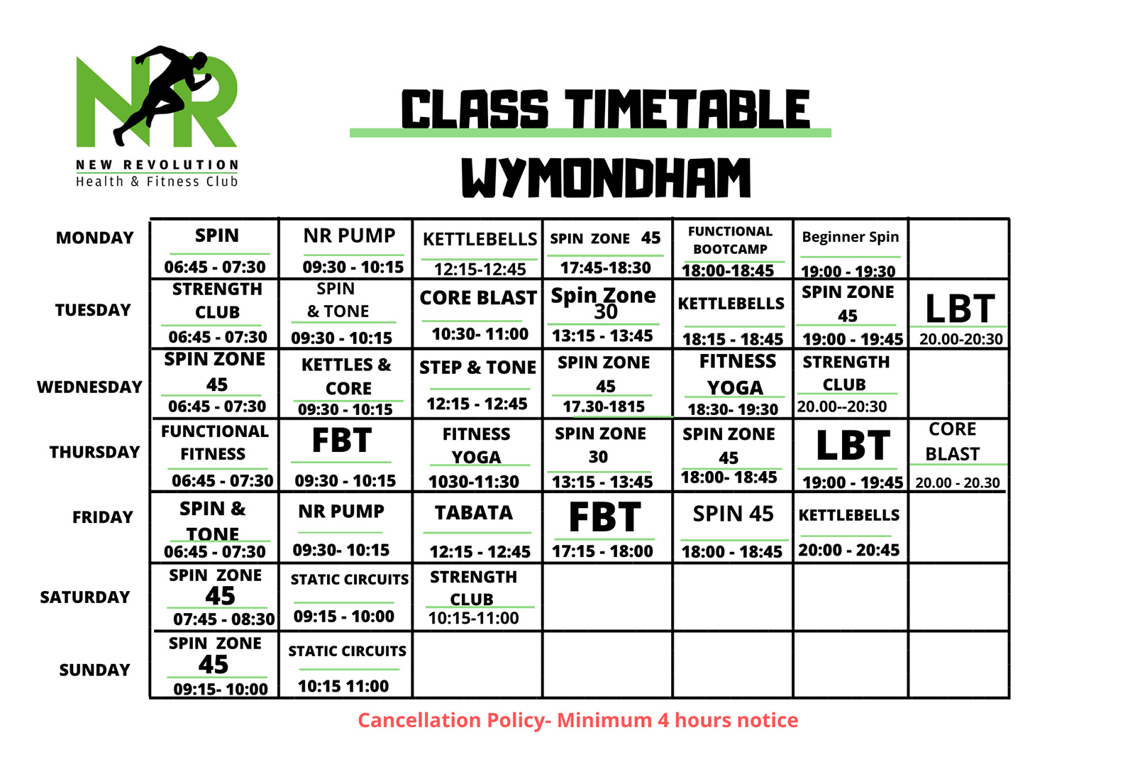 NEW Wymondham Timetable - July 2020