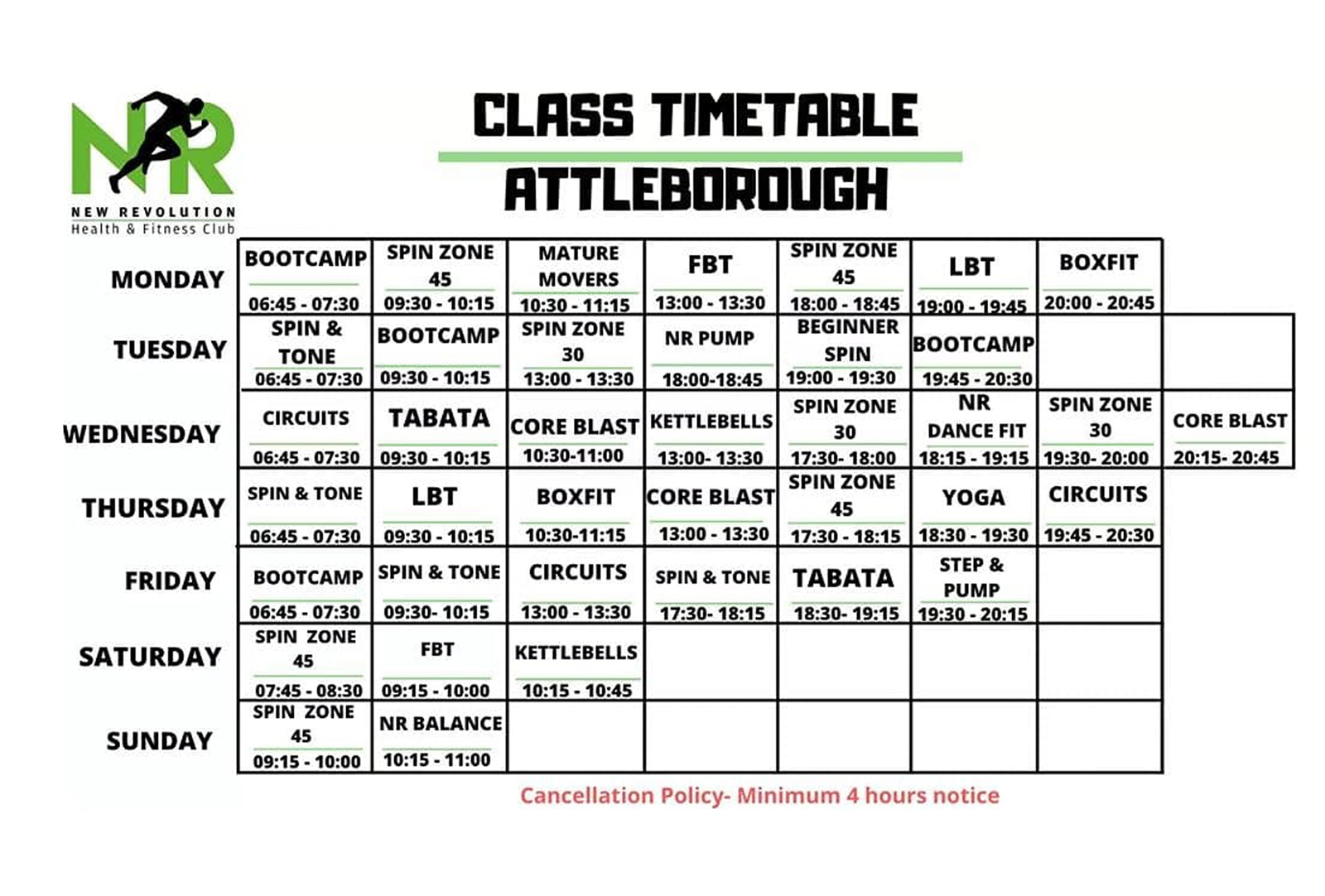 NEW Attleborough Timetable - October 2020