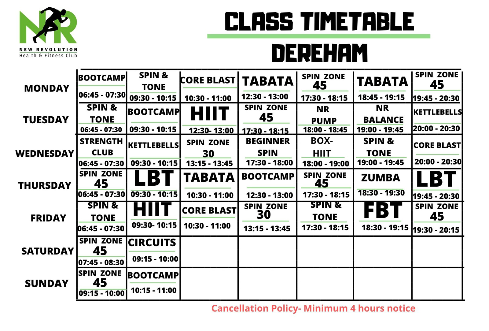 NEW Dereham Timetable - October 2020